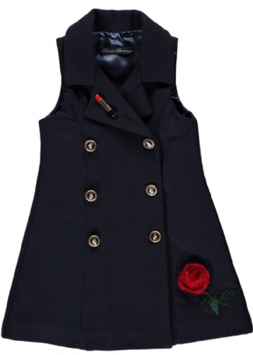 Piccola Speranza Girls Navy Dress